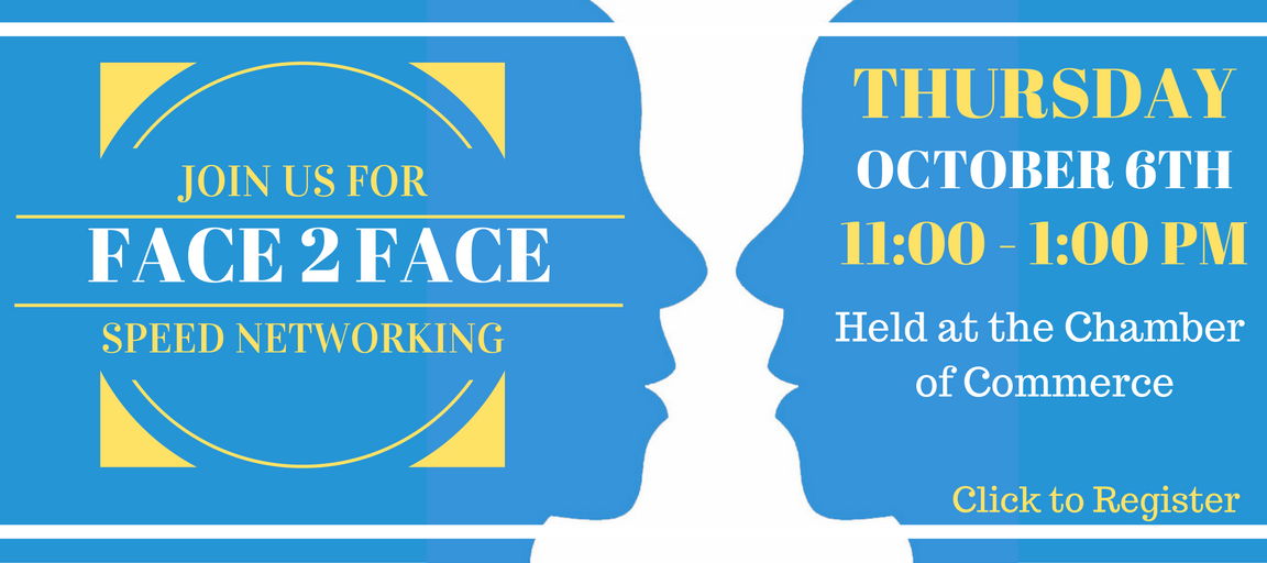 Face 2 Face, Georgetown, networking, speed, chamber of commerce